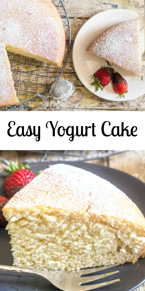 Easy Yogurt Cake Any Flavour Yogurt Makes This Cake Different