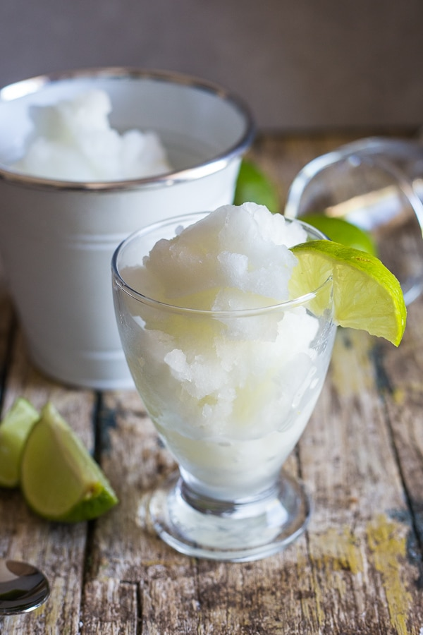 ice cream maker granita in a glass