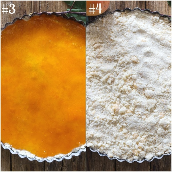crumb pie how to make jam on top and ready for baking