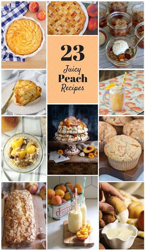 eat a peach day peach recipes