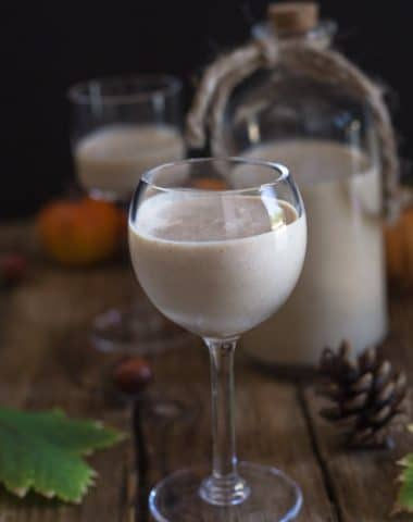 pumpkin liqueur in a glass