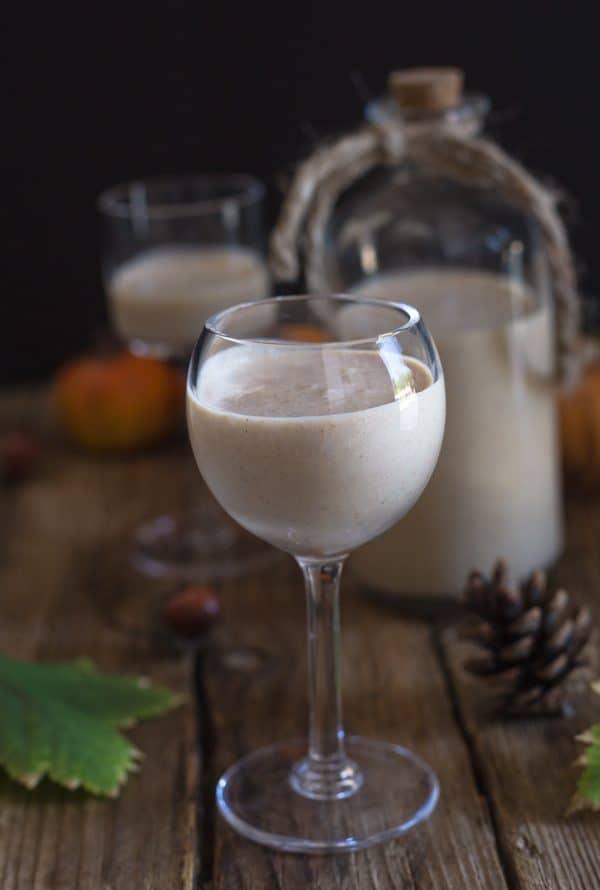 pumpkin liqueur in a glass
