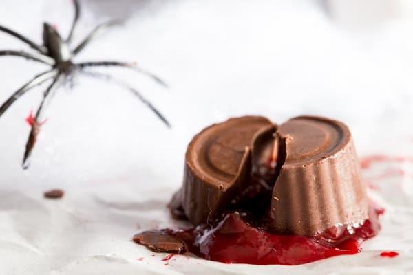 raspberry filled chocolates