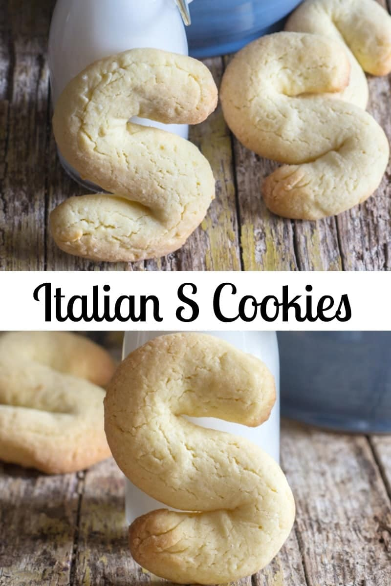 A fast and easy to make Italian S Cookie. These simple Biscuits go perfect with a cup of coffee or tea. Have them for Breakfast or Snack. #cookies #breakfast #breakfastcookies #Italiancookies #biscotti #scookies #essebiscotti #Italianrecipe