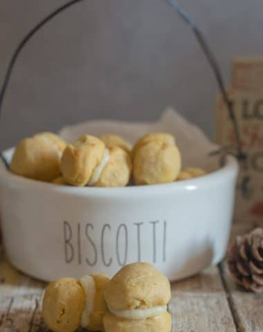 baci di dama in a cookie basket