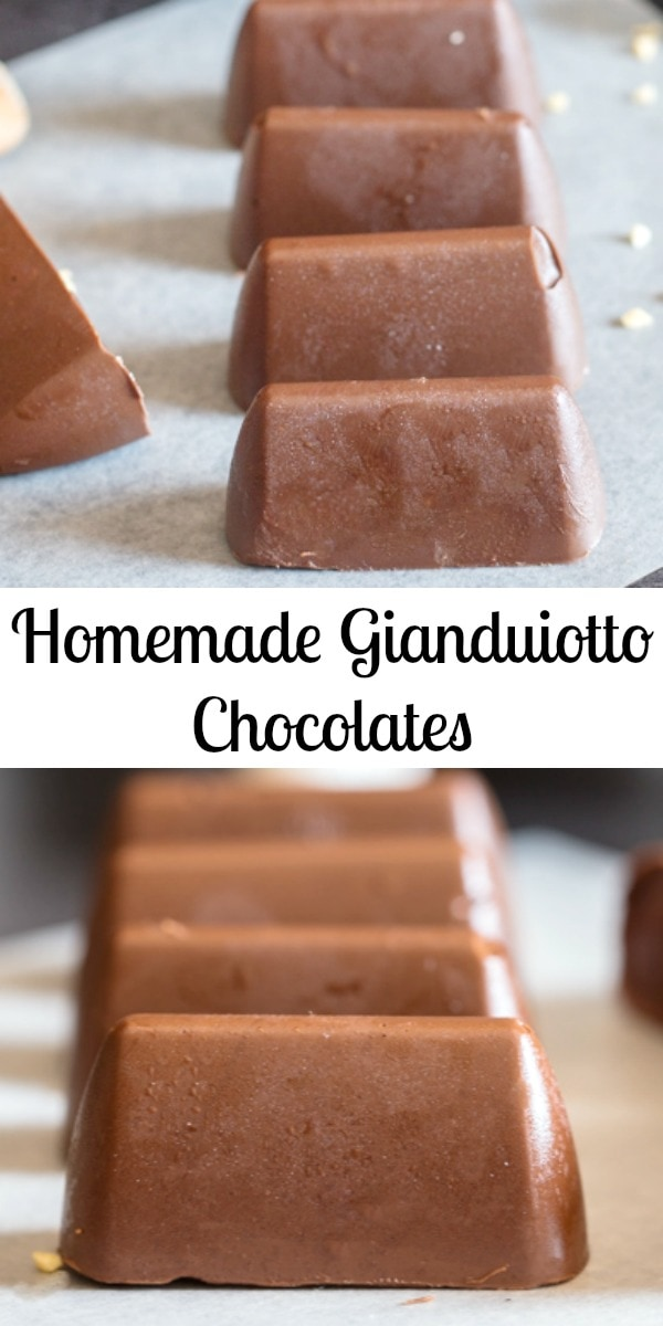 Italian Homemade Gianduiotto Chocolates are the creamiest and easiest Holiday Chocolates you will make this season. Only 3 ingredients, they make the perfect Christmas gift. #chocolate #candy #Christmas #Gianduiotto #nobake