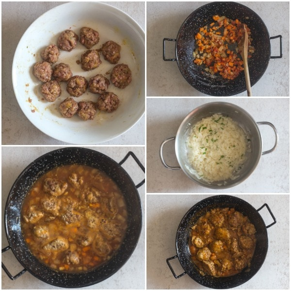 little meatballs how to make, making the meatballs, sauce and rice