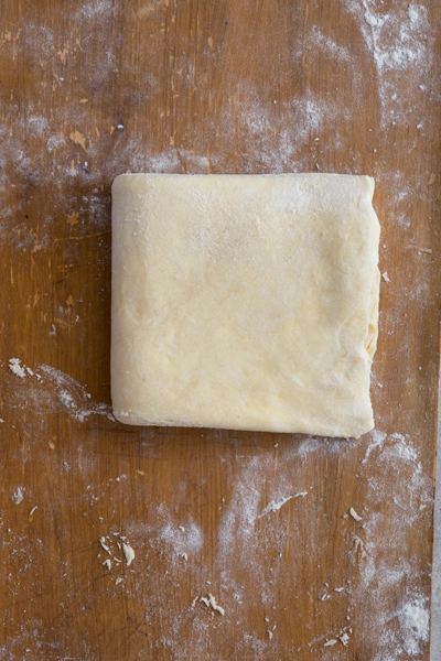 Dough folded, chilled and ready to use.
