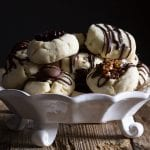 shortbread cookies on a white dish