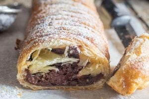 chocolate pastry with dark chocolate & nuts