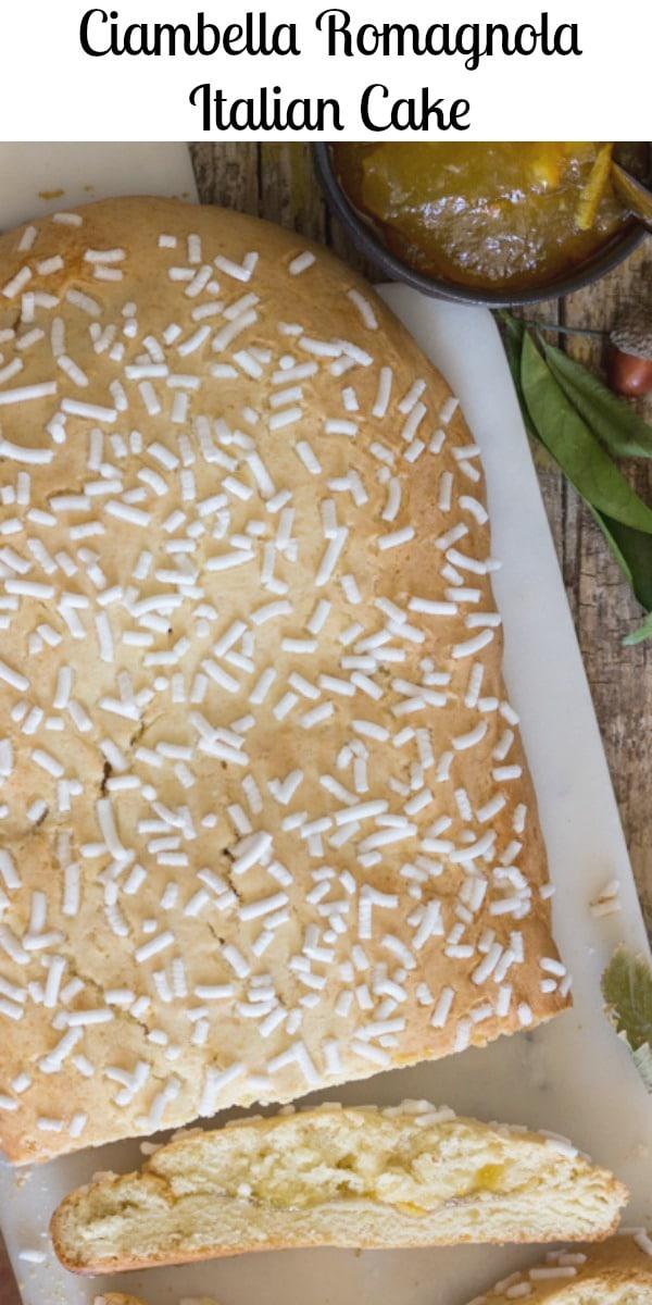 Ciambella Romagnola an Italian Cake, a simple rustic loaf cake from the Emilia Romagna Region of Italy. Make it plain or filled with your favourite jam or hazelnut cream. #Italiancake #ciambella #romagnola #Italiandessert #breakfast #cake #snack #Italianrecipe