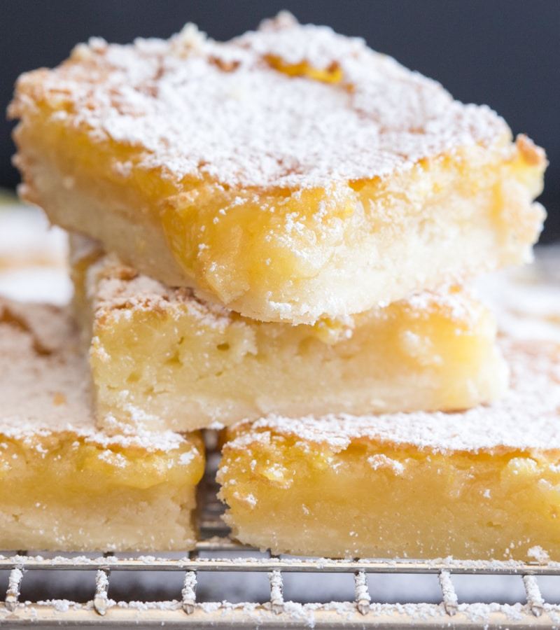 lemon squares 3 on top of each other