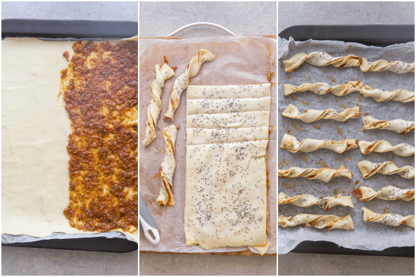 how to make puff pastry twists