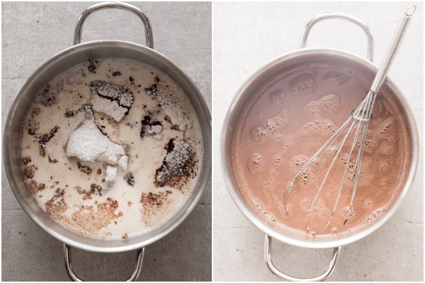 how to make fudgsicles ingredients in the pot and melted