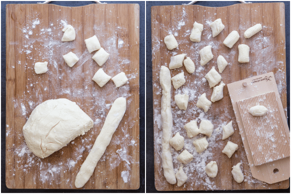 how to make ricotta gnocchi making the dough and cutting the gnocchi