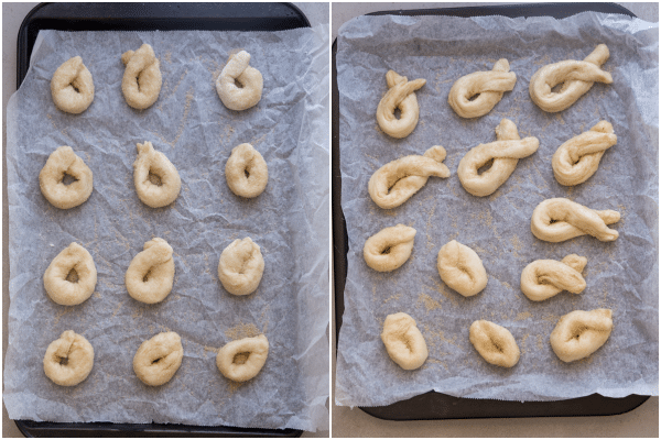 how to make twist cookies cookies dipped in cane sugar on a cookie sheet
