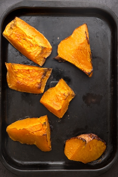 baked until tender the pumpkin chunks