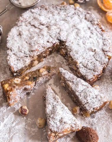 panforte 3 slices on paper