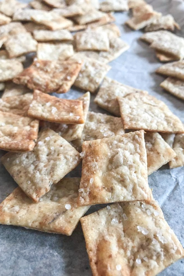 crackers made with starter dough