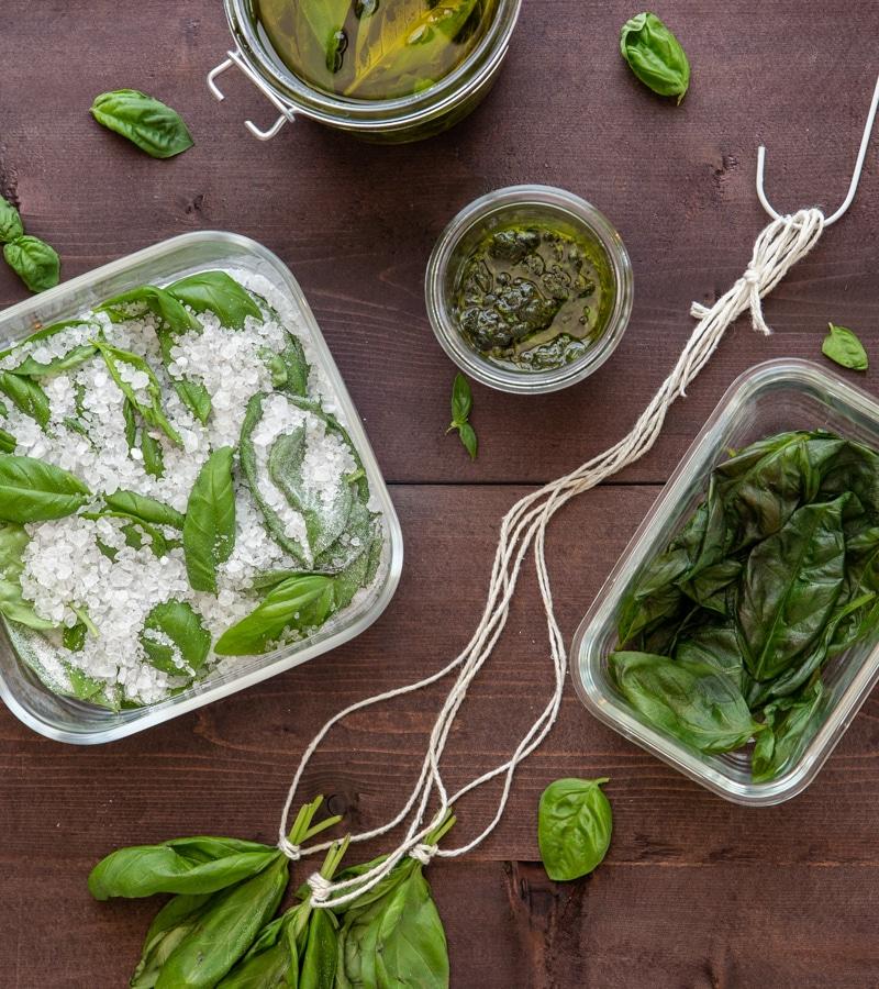 How To Preserve Fresh Basil An Italian In My Kitchen