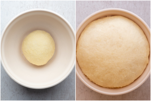 before and after the 1st dough rise