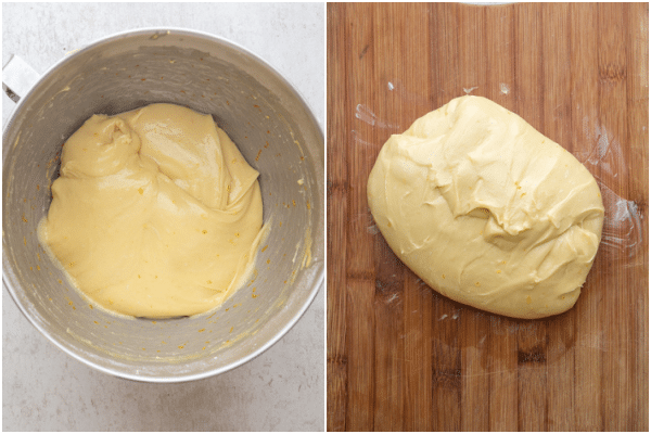 making the dough and kneading