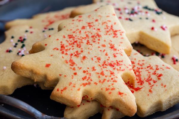 up close sugar cookie