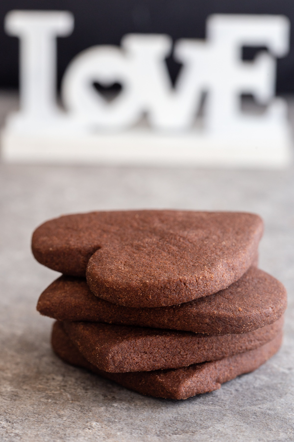 heart cookies stacked