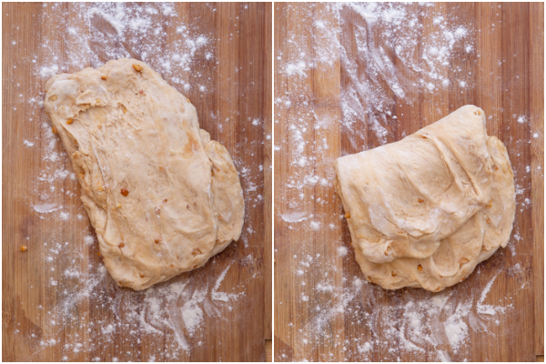 stretch and fold dough