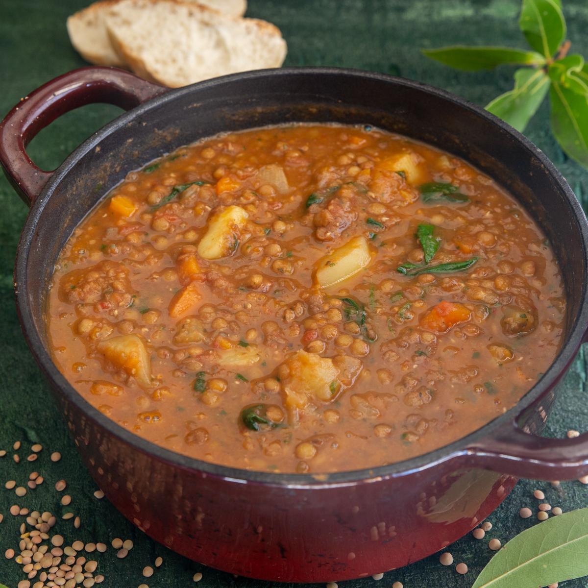 Italian Lentil Soup Healthy Vegan Vegetarian Soup