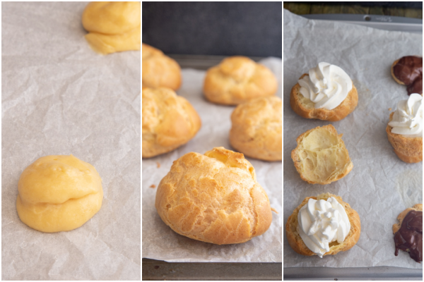 Travel Street Dish cream-puffs-how-to-make-4 Cream Puffs Italian Baked Bignè