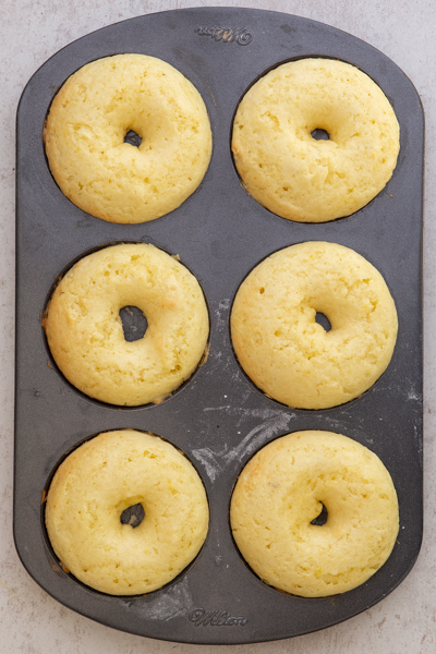 lemon donuts baked in the donut pan