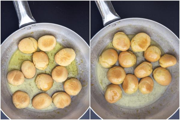 नींबू चीनी मिश्रण में कुकीज़ और खाना पकाने जोड़ें