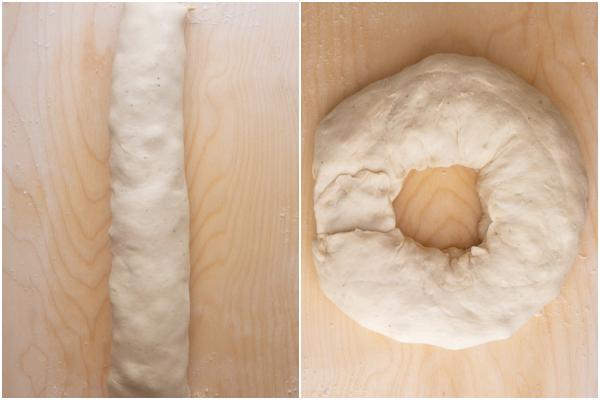dough rolled and placed in a pan.