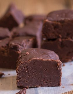 Old Fashioned Chocolate Fudge, creamy and slightly crumbly this melt in your mouth homemade fudge is the best.